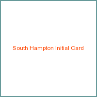 South Hampton Initial Card